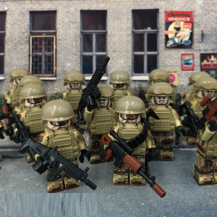 U.S. Special Forces Weapons Figures Original Toy Swat Police Military Accessories Compatible All DIY Building Blocks Brinquedos