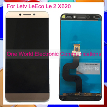 "Gold Rose Gold 5,5 ""für letv leeco le 2×620 voll lcd display digitizer mit touch screen komplette montage tracking-code"
