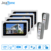 JeaTone 7 TFT Wired Video Intercom System 1200TVL High Resolution Camera Touch Key Home Security Video