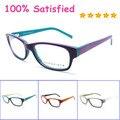 Hot 2016 nova tendência de alta qualidade sólida mulheres grife frame ótico do acetato com mola hing retângulo óculos b140241
