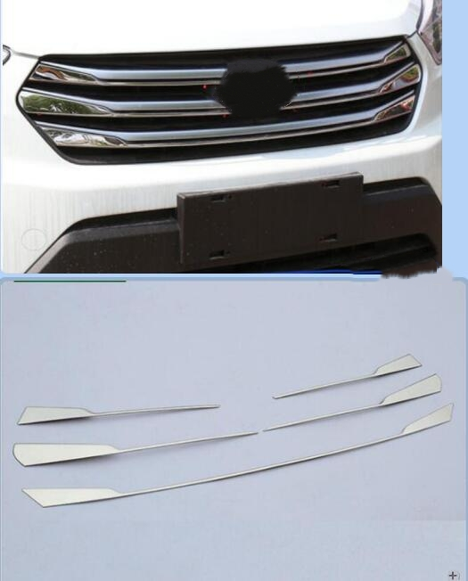 High quality stainless steel grille trim 5 pieces 2015 2016 2017 FOR Hyundai Creta IX25-in Chromium Styling from Automobiles & Motorcycles