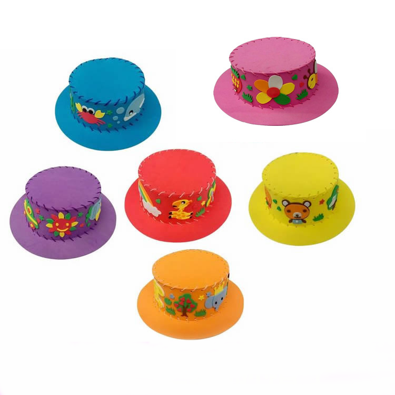 31cm EVA Hat Handicraft DIY Toys for Children DIY Handmade Sewing Cartoon Kids Kindergarten Kindergarden Material Art Crafts Toy