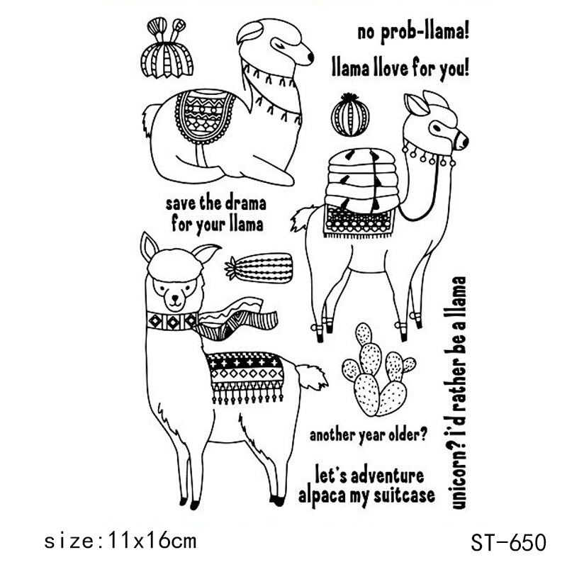 ZhuoAng Camel Alpaca Cactus Clear Stamps Seals For DIY Scrapbooking Card Making Album Decorative Silicon Stamp Crafts in Stamps from Home Garden