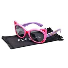 GY кошачий глаз, детские солнцезащитные очки, поляризованные очки для девочек, детские розовые очки для мальчиков, UV400, детские солнцезащитные очки, милые защитные очки, красные очки