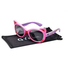 GY Cat Eye Kids Sunglasses Polarized Girls Children Pink Gla