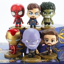 Disney Marvel Avengers Iron Man Hulk Thanos doktor strange 6 styl Q wersja figurka kolekcja anime figurka zabawka model tanie tanio Wyroby gotowe Unisex Not for Children under 3 years 6 5cm Pierwsze wydanie 14 lat 6 lat 8 lat 12-15 lat 8-11 lat 3 lat