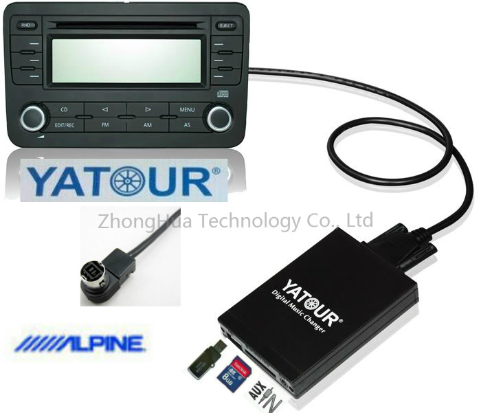 Yatour Digital Music Car Audio USB Stereo Adapter MP3 AUX Bluetooth for Alpine AI-NET interface CD Changer apps2car usb sd aux car mp3 music adapter car stereo radio digital music changer for volvo c70 1995 2005 [fits select oem radio]