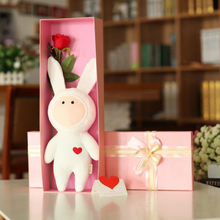 Kawai Rabbit Doll Baby Bunny Plush Catoon Toys Stuffed Animals Dolls for Girls Kids Toy