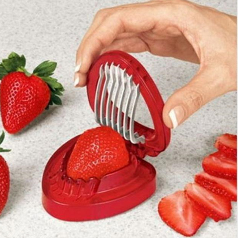 Kitchen Gadgets Free Shipping/1pcs Strawberries Cut Fruit Knife Simply Slice Sta