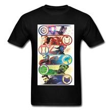 Marvelous Infinity War Endgame Marval Comic T Shirt Fashion Spiderman Spider Man Captain America Hulk Ironman Hero Tshirts Male