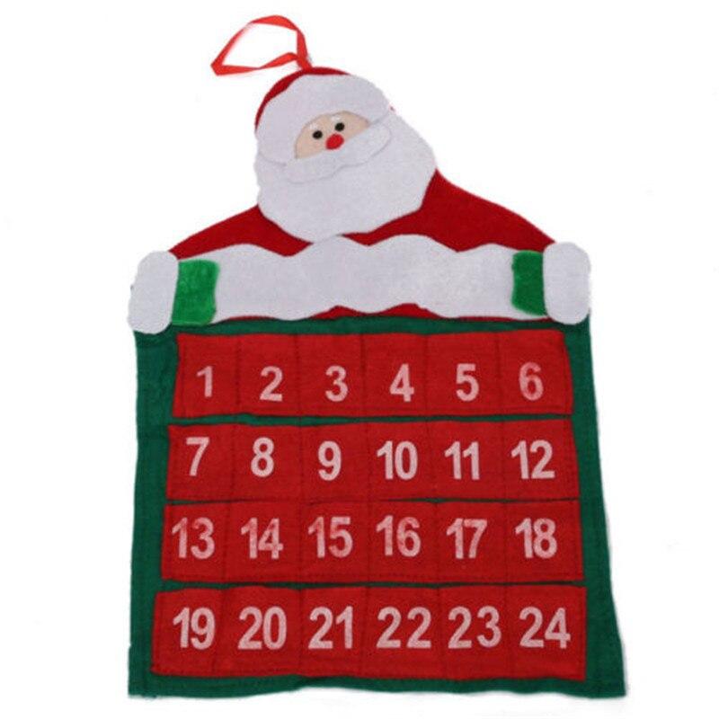 De Noël de l/'avent calendriers Santa Claus compte à rebours Noël Décoration Tissu