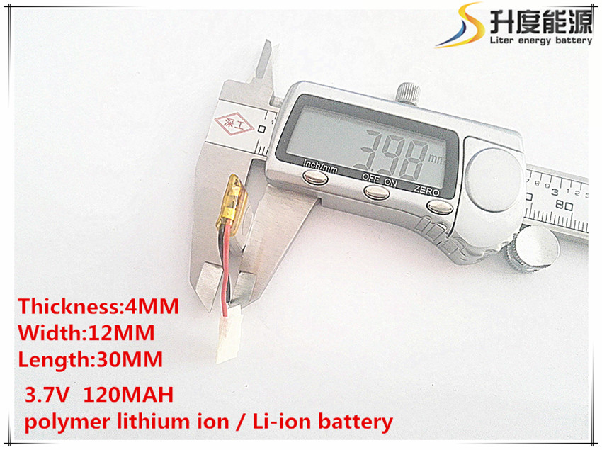 3.7v,120mah, sd 401230 Polymer Lithium Ion / Li-ion Battery For Toy,power Bank,gps,mp3,mp4,cell Phone,speaker Catalogues Will Be Sent Upon Request 10pcs