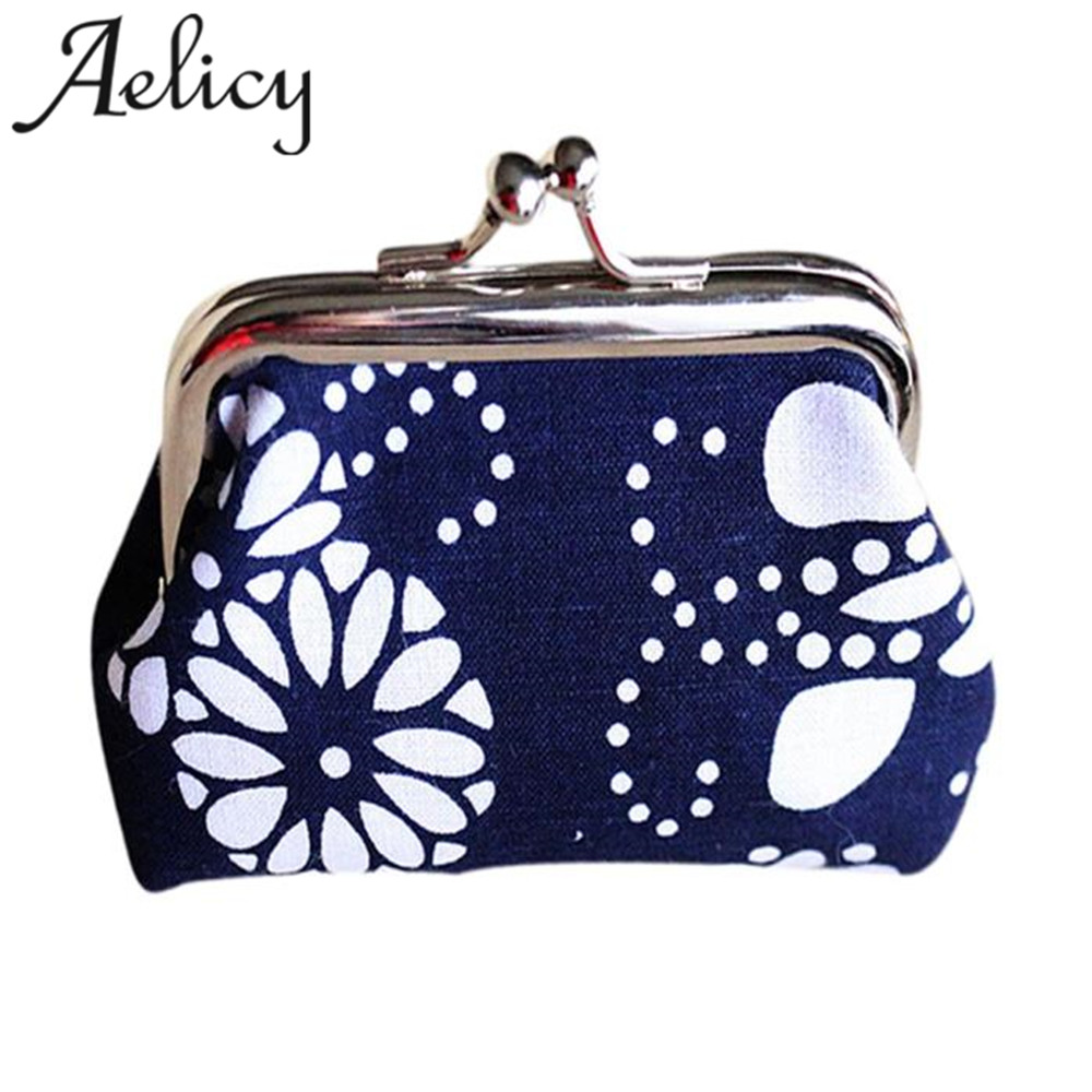 Aelicy 2018 Hot New Fashion Light High Quality Women Girls Retro Vintage Small Wallet Hasp Purse Clutch Bag