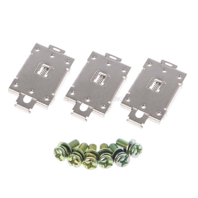 цена на 3 Pcs Single Phase SSR 35mm DIN Rail Fixed Solid State Relay Clip Clamp w./ 6 Mounting Screws #H028# Drop shipping