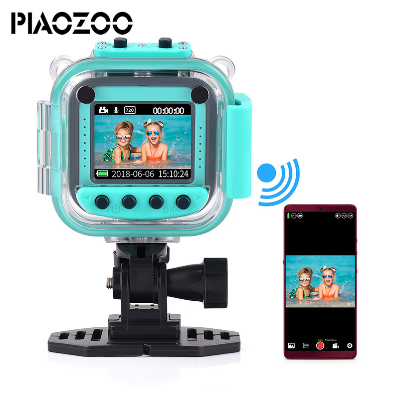 Children Kid Digital Video Camera toy juguete 20M waterproof sport action camera multiple languages precious christmas Gift P20