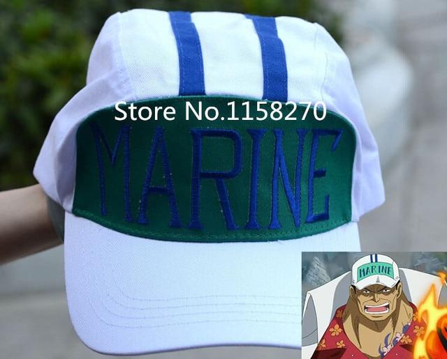 Free Shipping One Piece Navy Admiral Akainu Sakazuki Red Dog cap hat Cosplay 5110bb3ae2