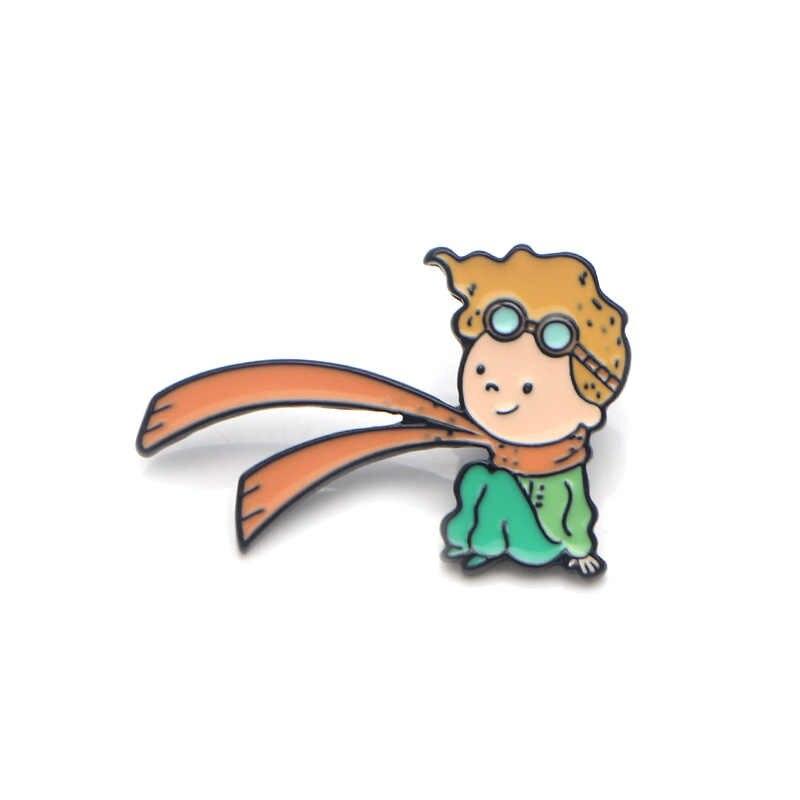 V108 Le Petit Prince e di Volpe Malefica del Metallo Dello Smalto Spilli e Spille di Moda Risvolto Spille Borse Zaino Distintivo Regali di Raccolta
