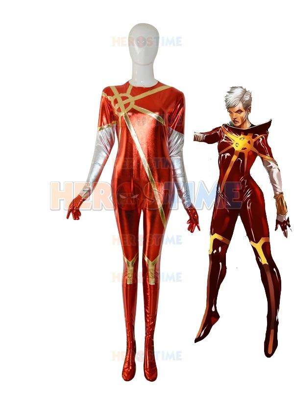 Female Quasar Superhero Costume Classic Style Lycra Spandex Phyla Vell Zentai Suit halloween Cosplay Suit