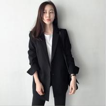 THYY 2018 Black Solid Spring Autumn Coat Blazer Women Suit Ladies Refresh Blazers Comfortable Women's Blazers Free Shipping A840