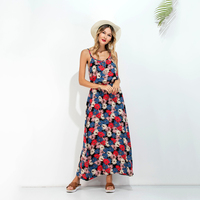 2017 Summer Hot Sale Women Beach Dresses Spaghetti Strap Backless Vestidos Longo De Festa O Neck