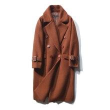 bfee5106842 KMETRAM lana Invierno Mujer Abrigos y chaqueta 2018 Doble Breasted Vintage  Casual largo Abrigo Invierno Mujer · 2 colores disponibles