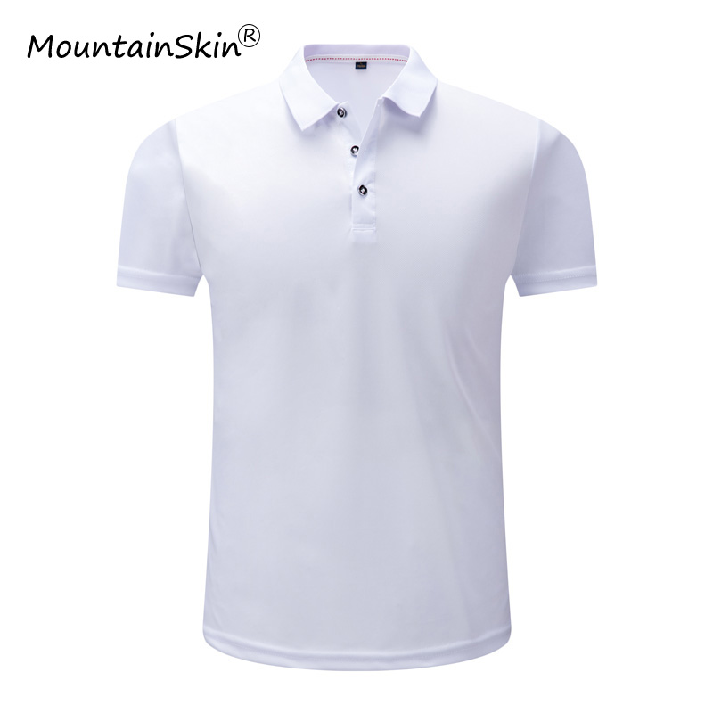 Mountainskin Men's   POLO   Summer Quickly Dry Shirt Short Sleeve   Polo   Casual Stand Collar Male   Polo   Shirt 4XL Bland Clothing LA602