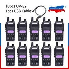 10pcs UV 82 Ships from Moscow! BaoFeng UV 82 Walkie Talkie 5W  136 174MHz/400 520MHz Two Way Radio Baofeng uv82 Ham Radio