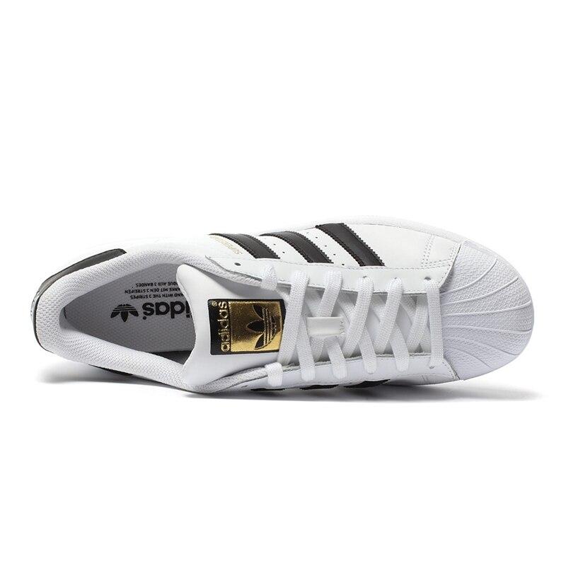 Adidas Officielles SUPERSTAR Trèfle de Femmes Et Hommes de chaussures pour skateboard Sport baskets d'extérieur Low Top Designer bonne qualité - 3