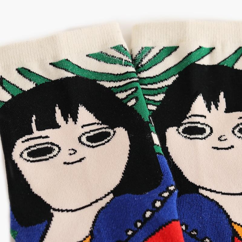 1beefa23b 2018 New Women Cartoon Art Odd Funny Socks Cute Childlike Home Sweet Lady  Socks Short Hair Girl Cat Hands Illustration Meia -in Socks from Underwear  ...