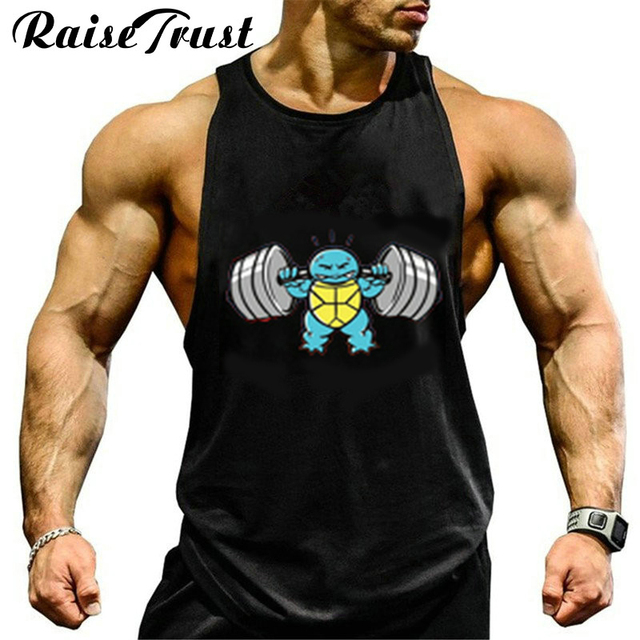 221fb4cd3 Roupas dos homens de Fitness algodão musculação regatas homens Singlet  Stringer Canotte academias de Musculação Roupas