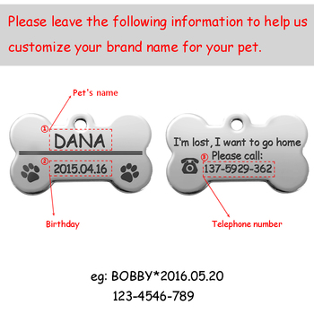Personalized Dog Tags Engraved Cat Puppy Pet ID Name Collar Tag Pendant Pet Accessories Bone Paw Glitter 4