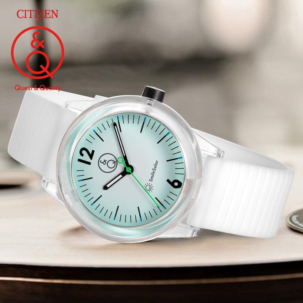 Часы Citizen Q & Q для женщин, женские Подарочные часы, топовые Роскошные брендовые водонепроницаемые спортивные кварцевые женские часы на солне