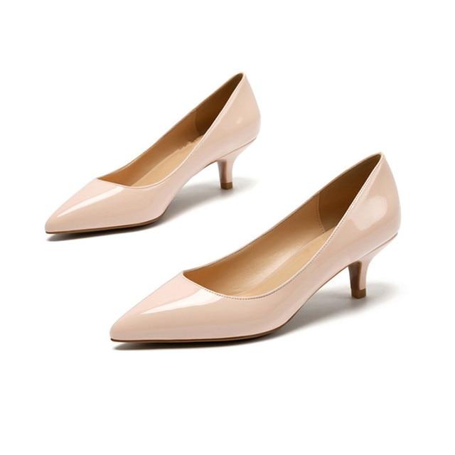 5CM Heels Women Wedding Shoes Nude