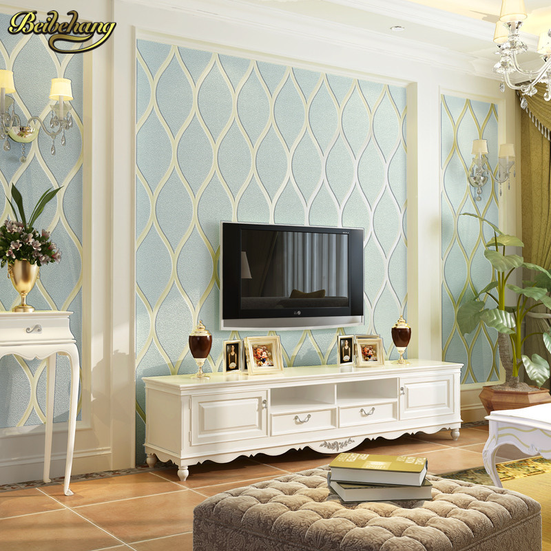 Beibehang vague sala papier peint pour murs 3d papel de parede chambre salon canapé backg roumd papier peint rouleau papier peint
