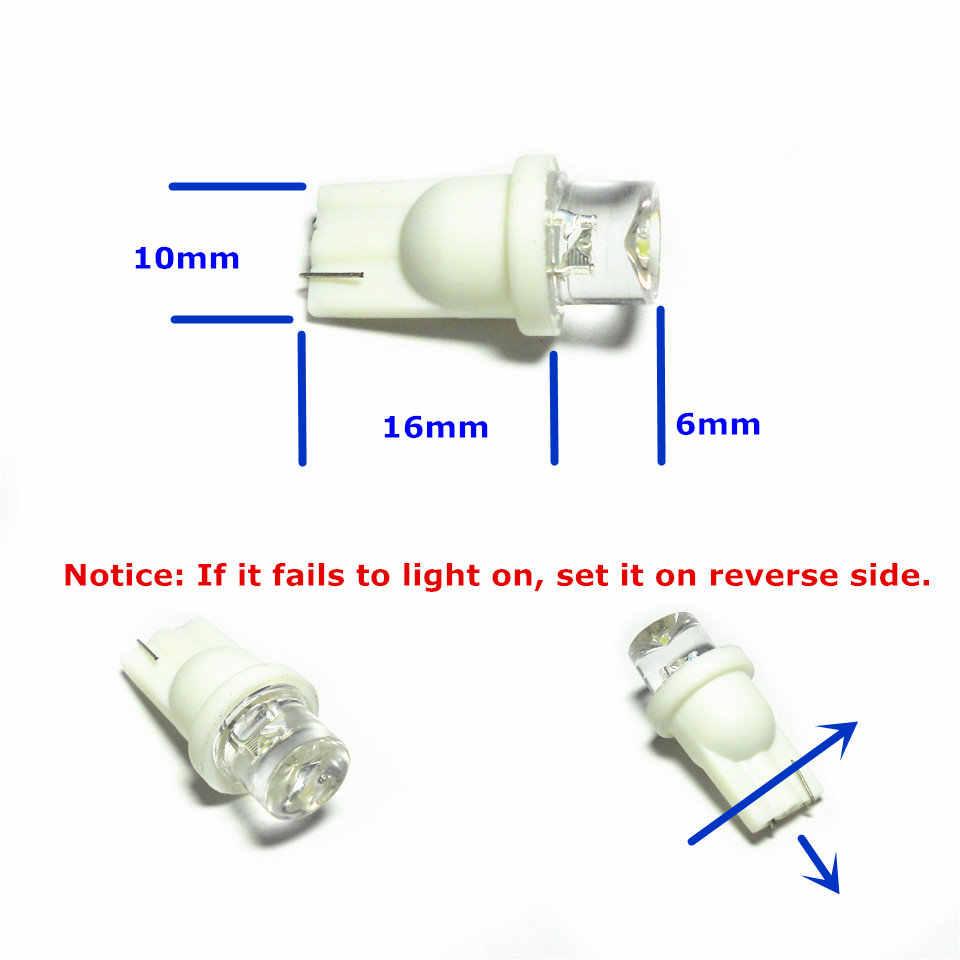 12 V led araba ampulü T10 (10mm projektör) W5W W2.1X9.5d Kapı Gövde Boot Lisans Okuma Işığı