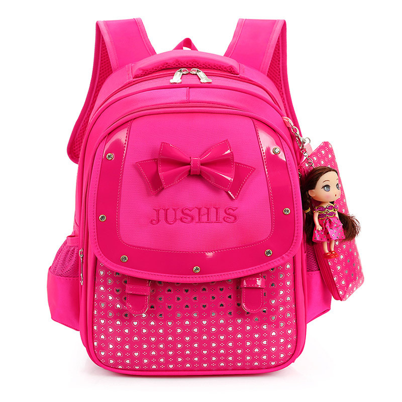 2019 Kids Backpack Orthopedic Breathable Children's Backpacks Girls Bowtie School Bag Primary School Backpacks