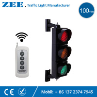 Wireless Controller 3x100mm LED Traffic Light Red Amber Green LED Traffic Signal Light Remote Controller Up