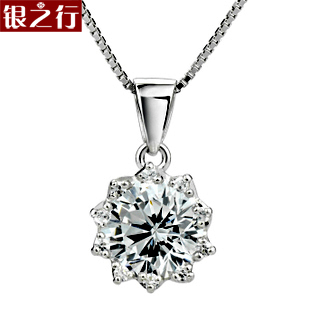 Fashion accessories girlfriend gifts perfect hearts and arrows cubic zircon flower 925 pure silver pendants silver jewelry