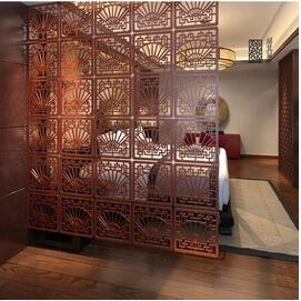 Chinese Hanging room dividers Private dining Shield Plastic partitions  Screen Decoration Mobile suspension folding screens(