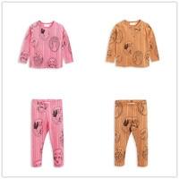 2018 New Boys Clothing Sets Long Sleeve T Shirt Cartoon Fox Printed Toddler Girls Tops Tshirt