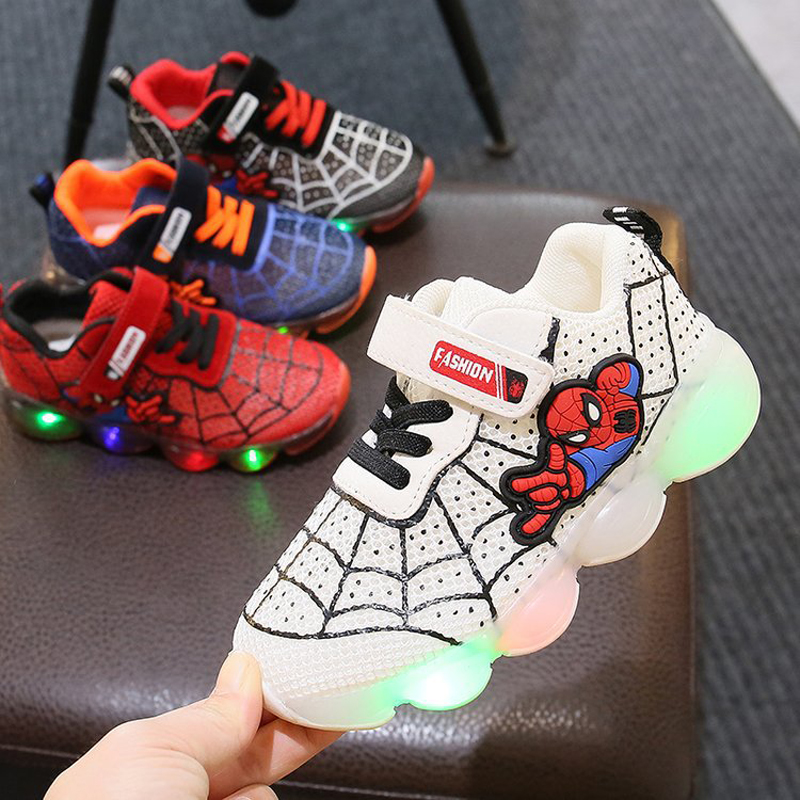Fashion Toddler Girls Antiskid Shoes Cartoon Children Boy Sports Shoes With Light Kids Led Shoes Luminous Sneakers