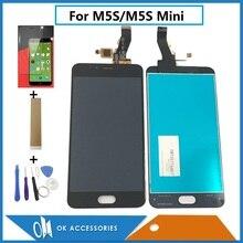 Продажа 5,2 дюймов для Meizu M5S M5S мини M612Q M612M M612H ЖК-дисплей Дисплей + Сенсорный экран планшета Ассамблеи черно-белый цвет с комплектом