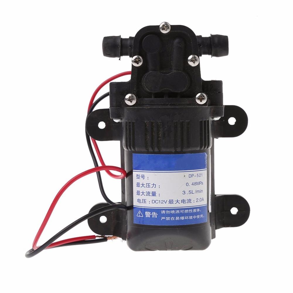 DC 12V 3.5L/Min 0.48MPa 70 PSI Diaphragm High Pressure Self Priming Water Pump Micro Pumps