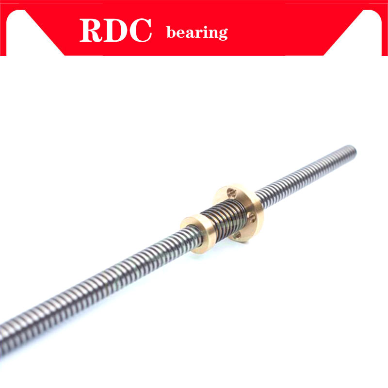 Anti-Backlash Nut + 200mm 300mm 350 400mm 500mm T-type Stepper Motor Trapezoidal Lead Screw 8MM Thread 8mm T8 For 3D Printer CNC 3d printer thsl 400 8d lead screw dia 8mm pitch 1mm lead 1mm length 400mm with copper nut free shipping