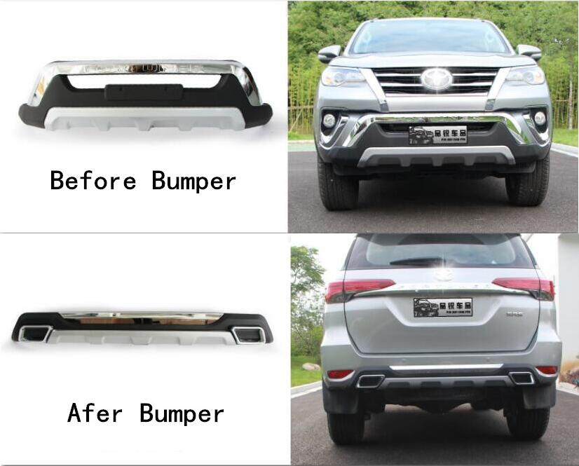 ABS 2 шт. спереди + задний бампер диффузор протектор гвардии картера для 17 18 19 Toyota Fortune 2016 2017 2018 2019 by EMS