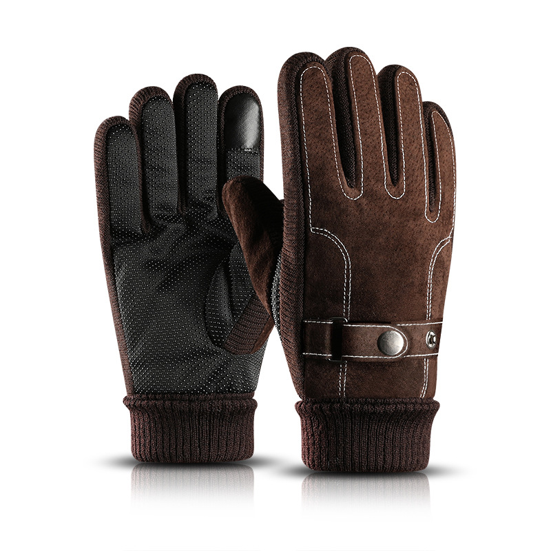 Warm Men Riding Motorcycle Gloves Winter Cashmere Cycling Students Cotton High Quality Men Gloves