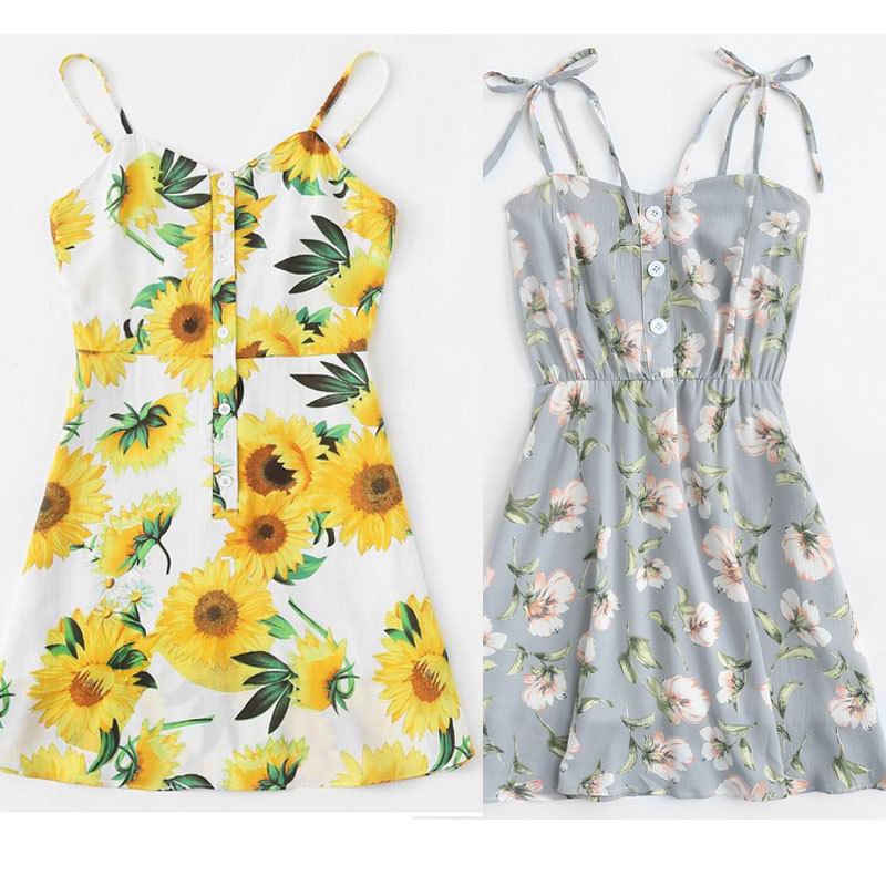 Женское богемное шифоновое летнее БЕЗРУКАВНОЕ вечернее короткое пляжное мини-платье, сарафан, Новая модная женская одежда