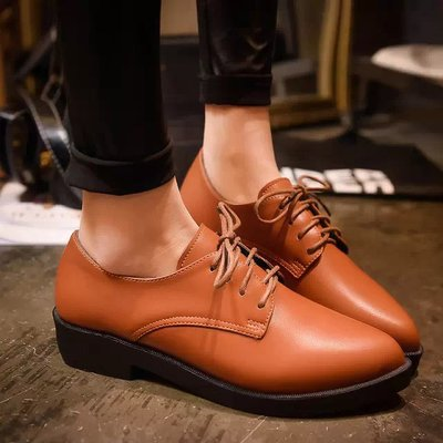 2017 pu leather Shoes retro party Women Brogues Oxfords office fashion Heels Round Women Casual Shoes oxford spring autumn all black platform shoes men brogues 2016 autumn brand design fashion shoes blingbling leather oxfords real leather shoes 38 44