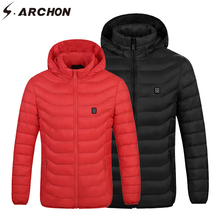 S.ARCHON Winter Mens USB Heated Jacket Tactical Military Thermal Warm Coat Men Cotton Casual Fashion Heating Hoodie Jackets Male casual men winter coat hoodie military field jacket jacket men thickened warm cotton jean military jackets plus size 4xl
