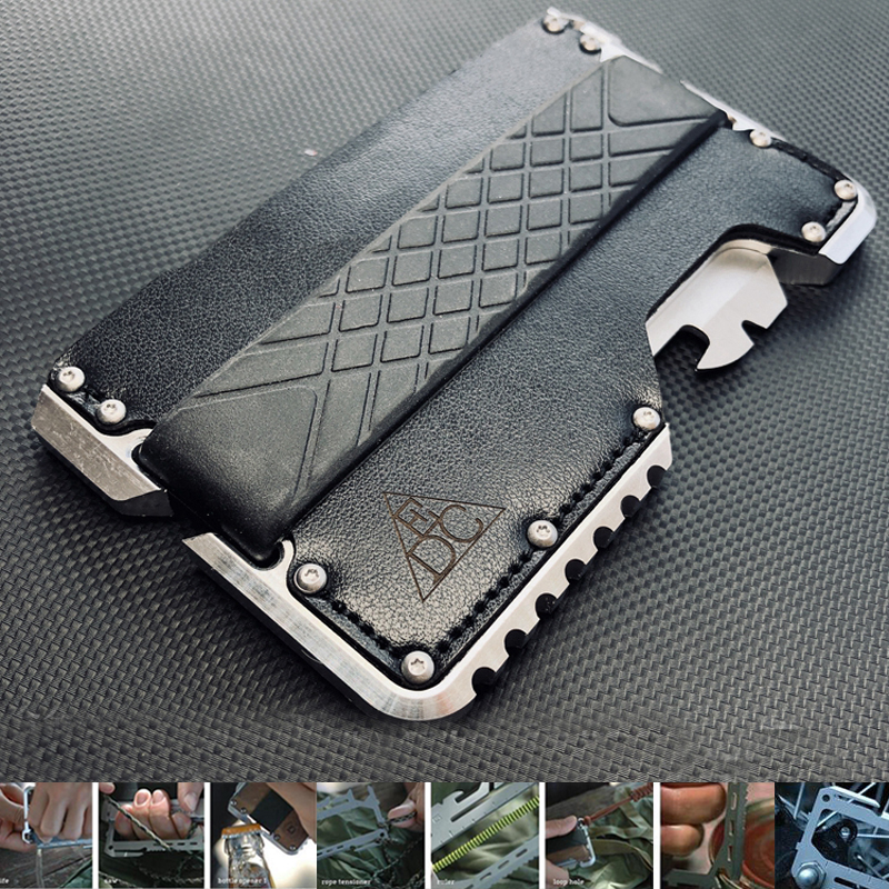 Metal Clip EDC Wallet Tactical Multi-function Wallet Card Package Army Fans Equipment Outdoor Camping Survival Tool